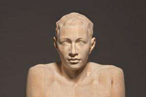 Mario Dilitz life-size wooden sculptures