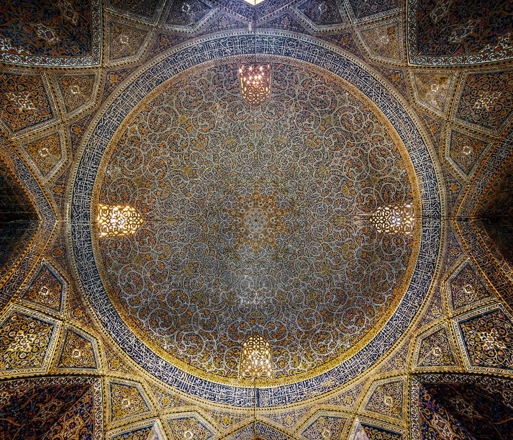 Dome of Seyyed Mosque Seyyed Mosque is in Isfahan , Iran Build in 19th Century ( Qajar Period )