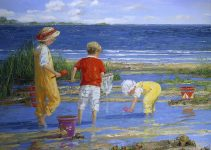 Sally Swatland |Beach Oil Painting