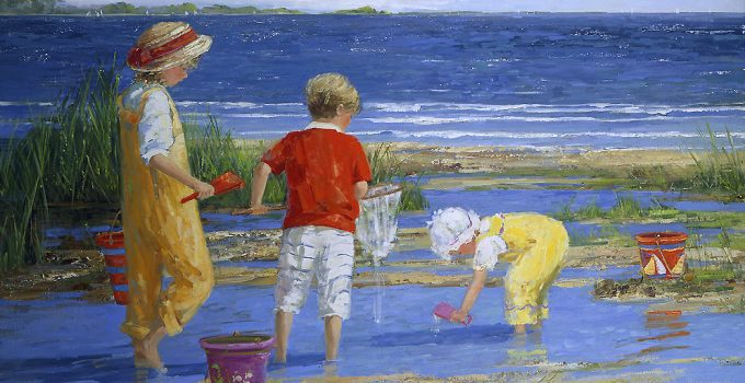 Sally Swatland |Beach Oil Painting