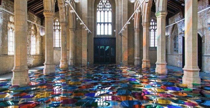 Liz West |700 circular mirrors church