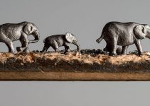 Elephant Carved From a Pencil Lead by Cindy D. Chinn