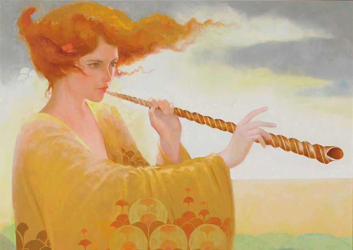 Редактор, открытки с флейтой