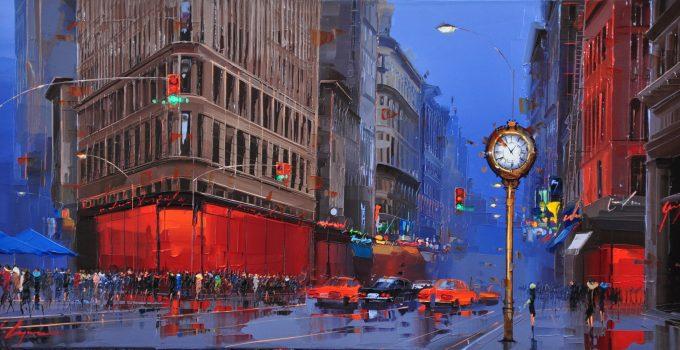 Kal Gajoum  CityScapes Painting