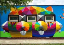 Amazing Geometric Murals on a Kindergarten in Italy. Okuda San Miguel Erice .#artpeople