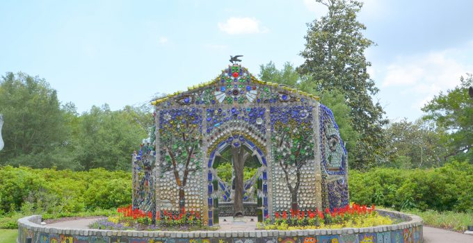 Amazing Garden Chapel Made From Bottles