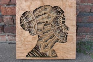 Laser-Cut Wood Relief Sculptures by Gabriel Schama