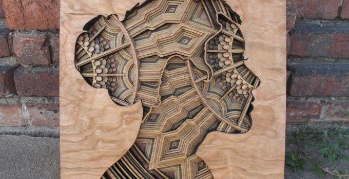 Laser-Cut Wood Relief Sculptures by Gabriel Schama