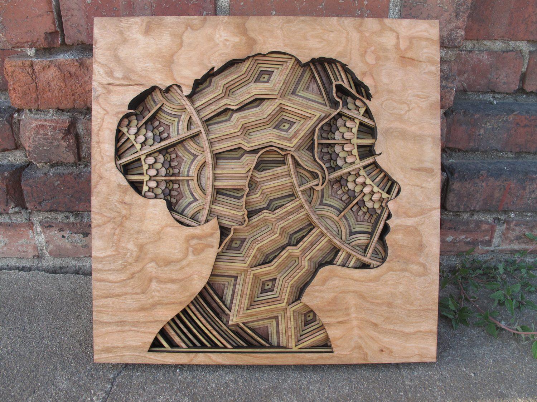 Laser Cut Wood Relief Sculptures By Gabriel Schama