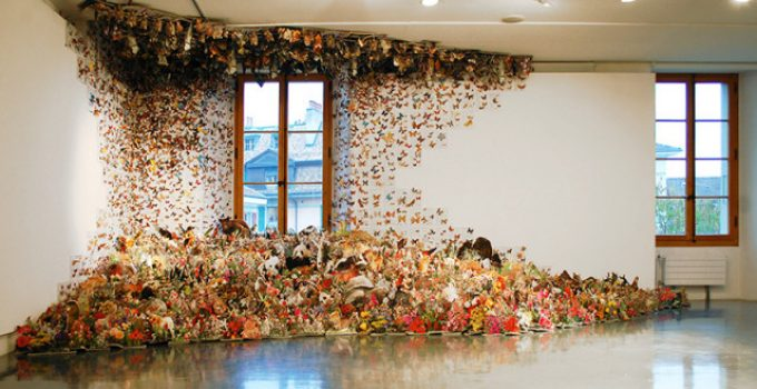 Andrea Mastrovito |Nature Installations from Cut Books
