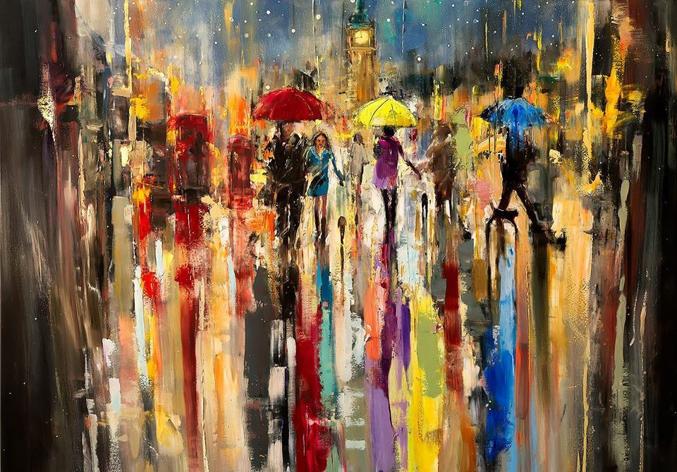 painting street eva czarniecka paintings oil painter artpeople abstract canvas streets prints limited london edition