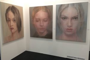 Sebastian Herzaus  blurred surface Paintings
