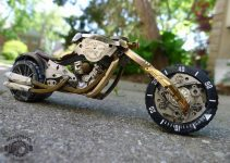 Dan Tanenbaum | Motorcycle made of Watch Part #artpeople