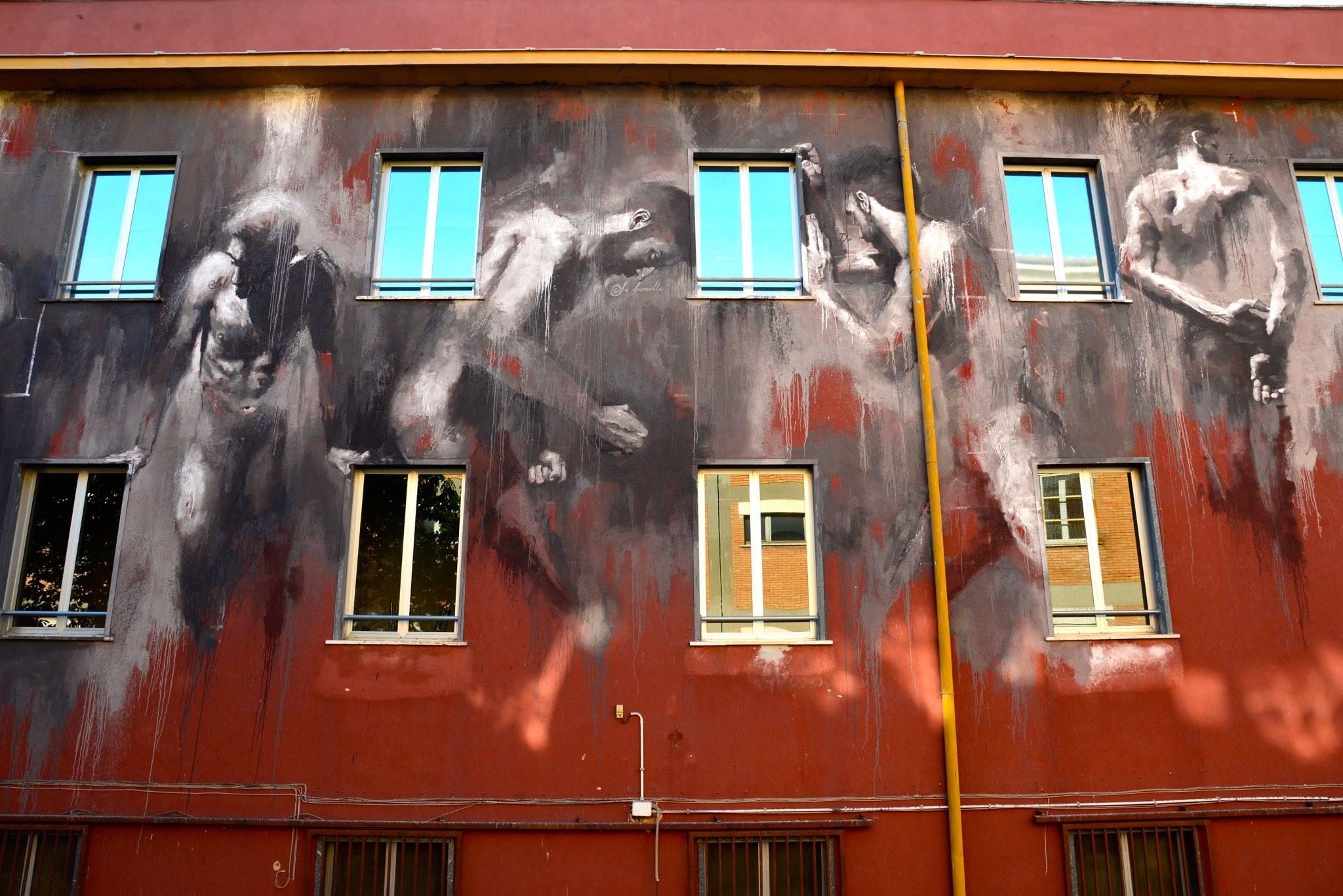 Luis gomez de teran mural street art artpeople net for Mural street art