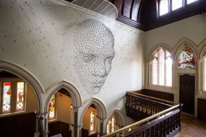 Steven Follen | A Face Made From 2,000 Stars.