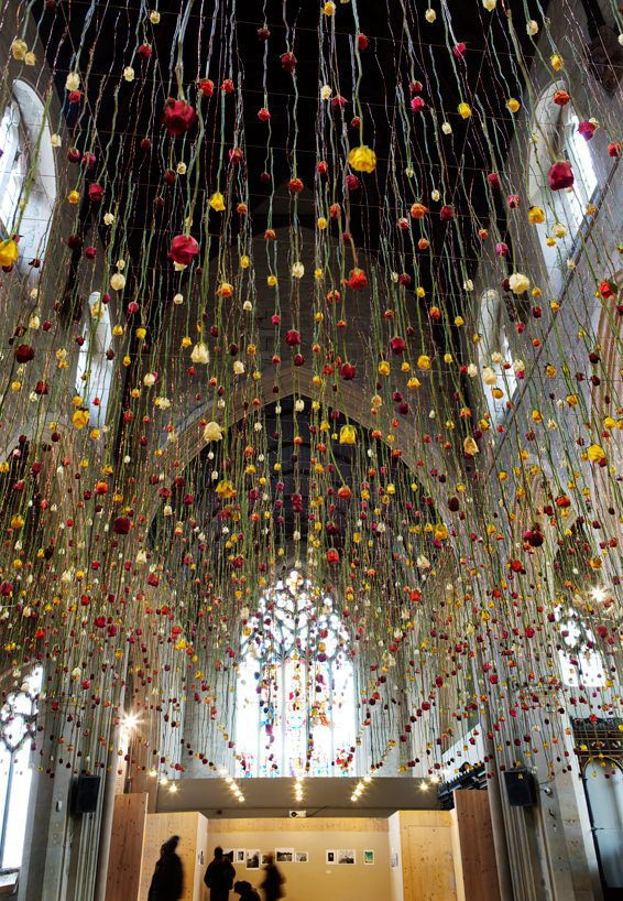Floral Spring Garden by Rebecca Louise Law #artpeople