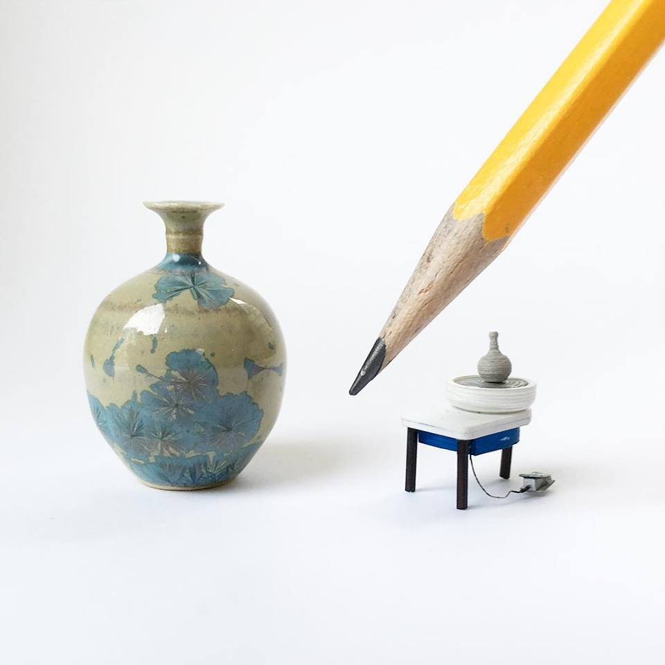 JON ALMEDA'S MINIATURE HAND THROWN POTTERY
