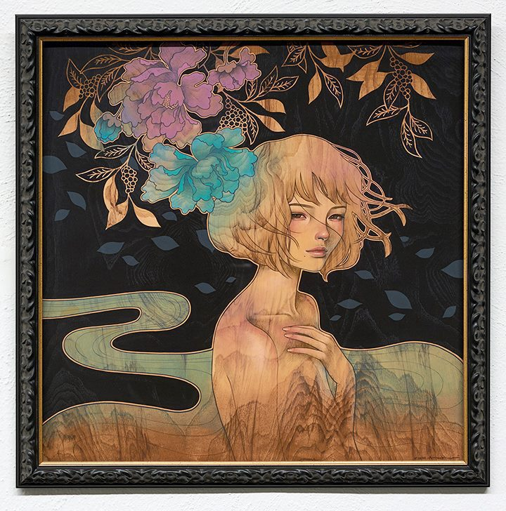 Audrey Kawasaki innocent & erotic paintings