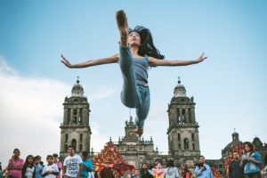 Dancers Practicing On The Streets Of Mexico