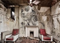 murals of beautiful women haunt wrecked buildings & abandoned homes by RONE #artpeople