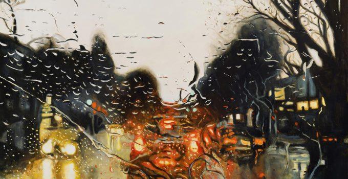 Emotionally evocative paintings of everyday modern life, by Jonathan Gleed.