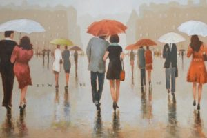 Hundreds Of People Walking In The Rain | RIMANTAS VIRBICKAS
