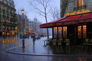 Cityscapes paintings by Russian artist Alexey Butyrsky