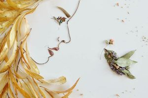 Beautiful artworks out of twigs and flowers | Vicki Rawlins