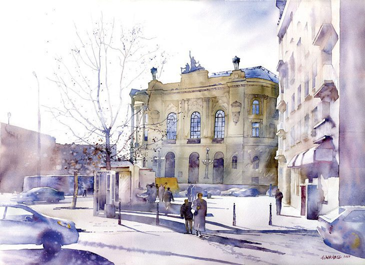 grzegorz wrobel watercolor illustrations artpeople net