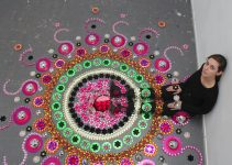 mesmerizing floor installations by Suzan Drummen