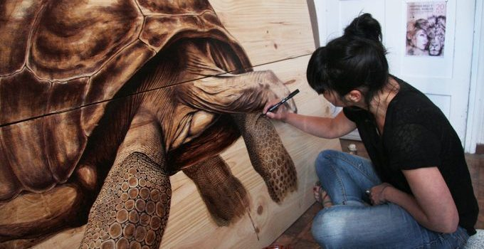 MARTINA BILLI – DRAWINGS ON WOOD.