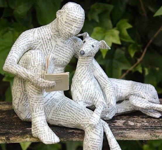 Vintage Paper Sculpture by Lorraine Corrigan