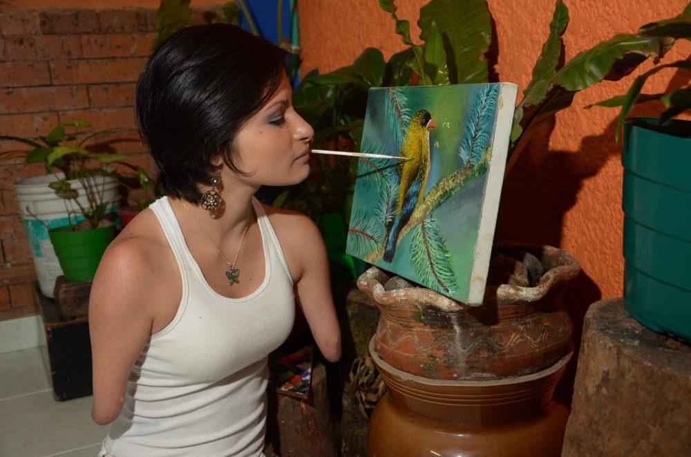 Inspiring by Zuly Sanguino, Limbless Artist