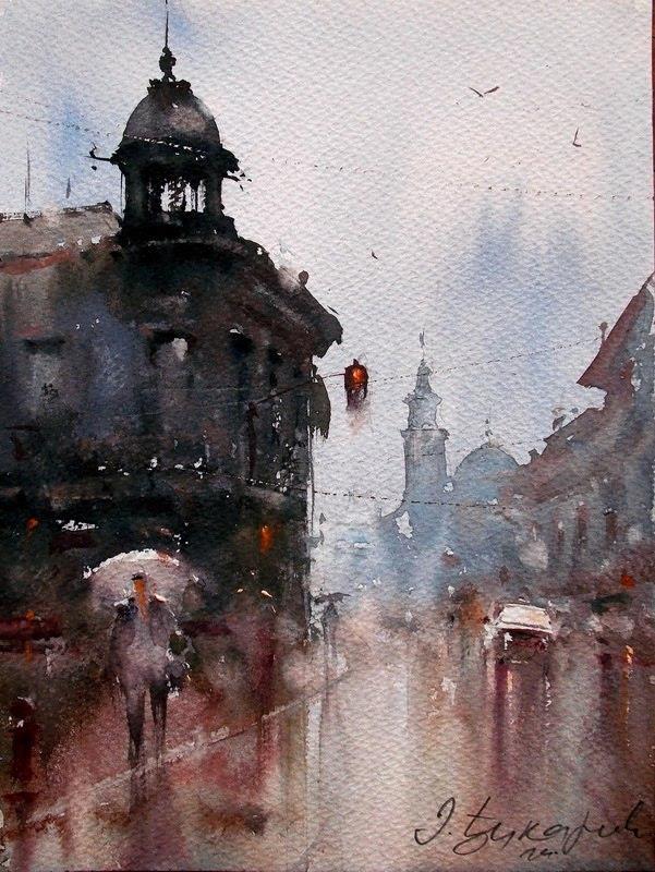 Watercolor Paintings By Dusan Djukaric Artpeople Net