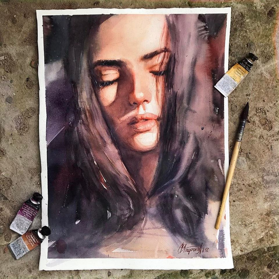 Wonderful watercolor paintings by Mayorova Anna