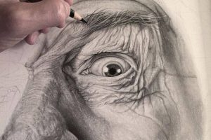 Incredible hyperrealistic drawing by Justin Cohen.