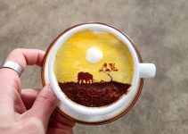 Barista From Korea Who Creates Art On Cups of Coffee