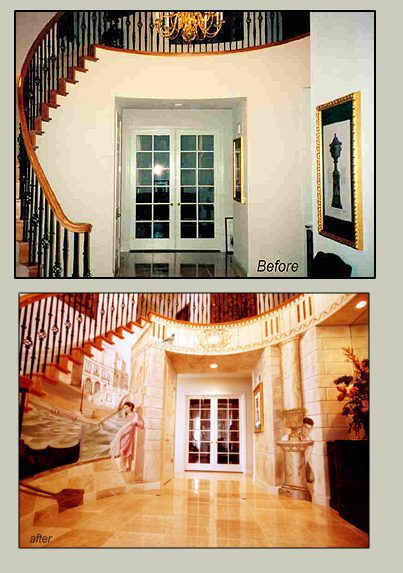 Artist transforming any interior into a magical environment.#artpeople