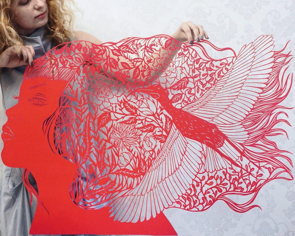 Original paper cuttings and modern art by Eugenia Zoloto