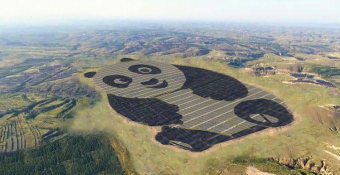 Solar farm in China is shaped like a panda