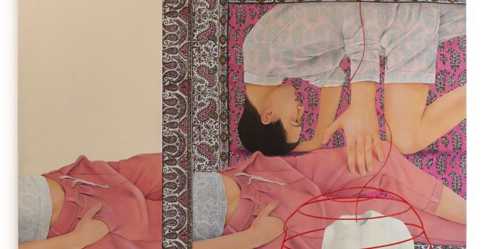 Mixed-Media Paintings by Arghavan Khosravi