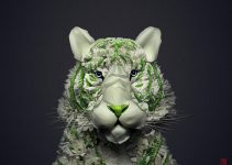 Stunning animals and birds made from plants and flowers by Raku Inoue.