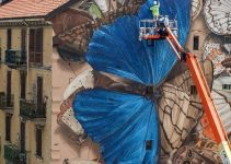 trompe l'oeil murals by France-based street artist Mantra