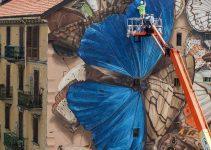 trompe l'oeil murals by France-based street artist Mantra