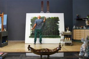 Cuban painter Tomás Sánchez has been painting serene landscapes of calm waters and verdant forests.