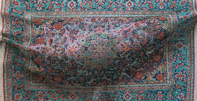 Hyperrealistic Paintings of decorative rugs covered in complex floral arrangements and patterns | Antonio Santin.